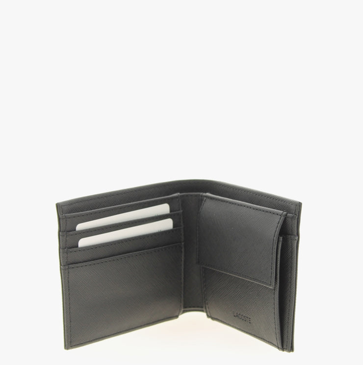 Portefeuille Lacoste S Billfold Coin Black ouvert