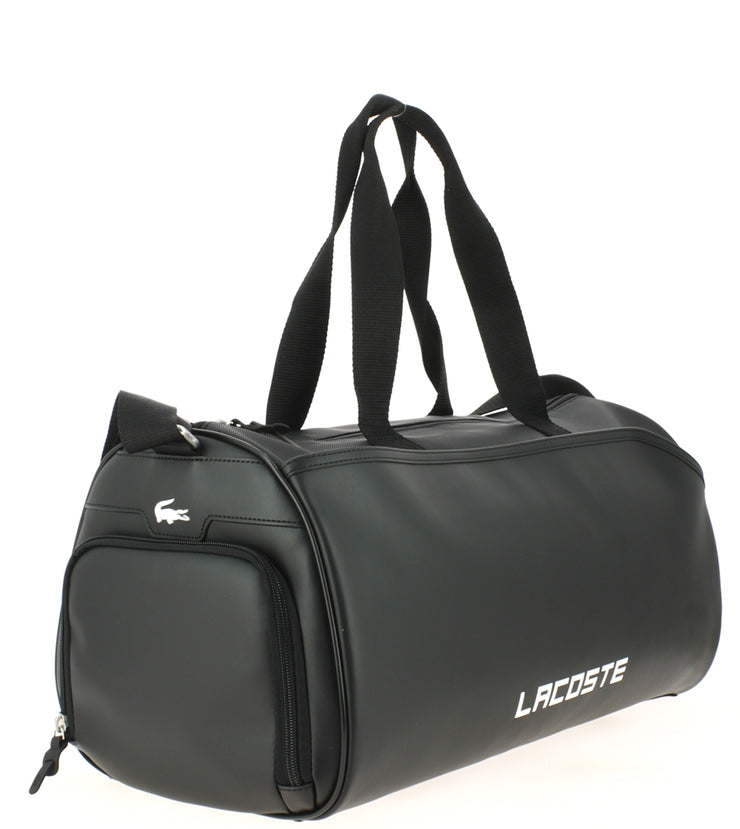Sac de sport Lacoste ROLL BAG BLACK  coté