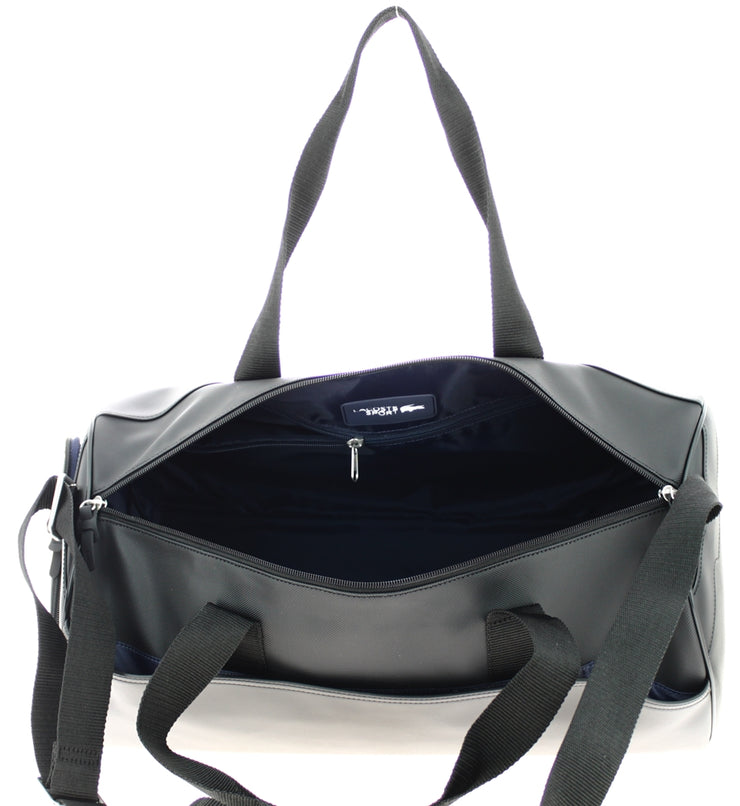 Sac de sport Lacoste ROLL BAG BLACK ouvert