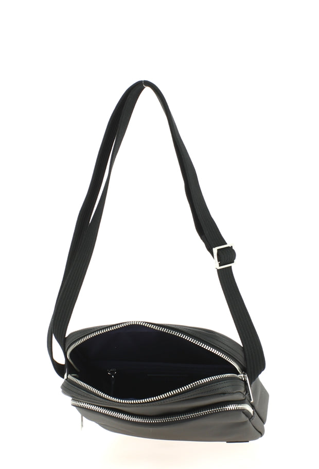 Sacoche Lacoste Crossover Bag Black ouvert