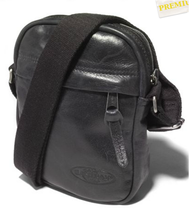 Pochette EASTPAK THE ONE black leather face