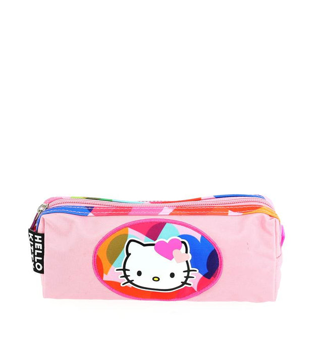 Trousse Hello Kitty 1 compartiment Rose face