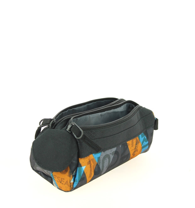 Trousse Rip Curl BUTBL4 0090-BLACK Geo Party Noir ouvert