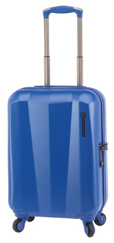 Valise cabine Snowball Carbon Robust 55 cm Bleu Face