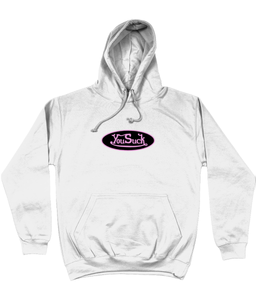 You Suck 2 Hoodie - In White / Black