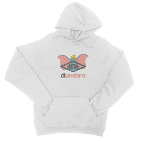 Dumbro Hoodie in White / Black