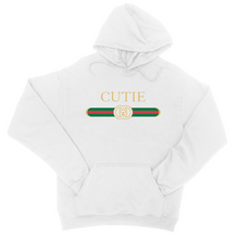 Load image into Gallery viewer, Cutie Hoodie - In White / Black