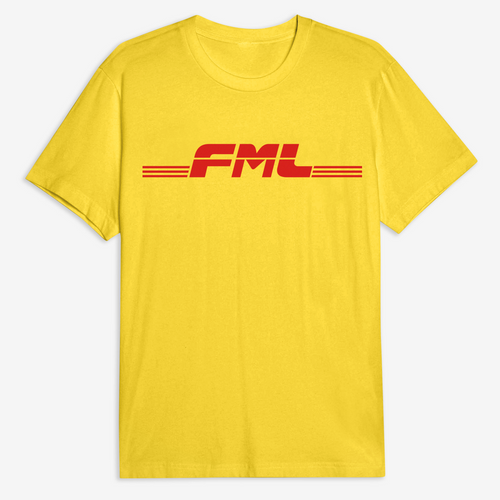 FML Tee in White / Yellow / Black