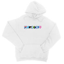 Load image into Gallery viewer, Feminist Logo Hoodie - In White / Grey / Pink