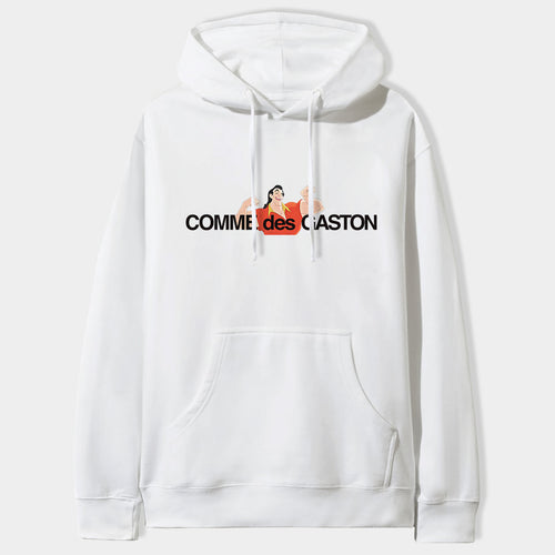 Comme Des Gaston Hoodie in White