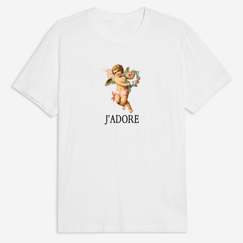 J'adore Cherub Tee in White