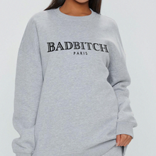Load image into Gallery viewer, Badbitch Sweat - in Grey / Pink / White