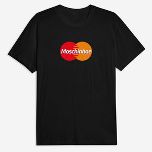 Moschinhoe Card Tee in Black / White