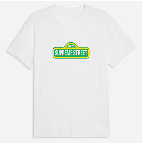 Supreme Street Tee - White / Black