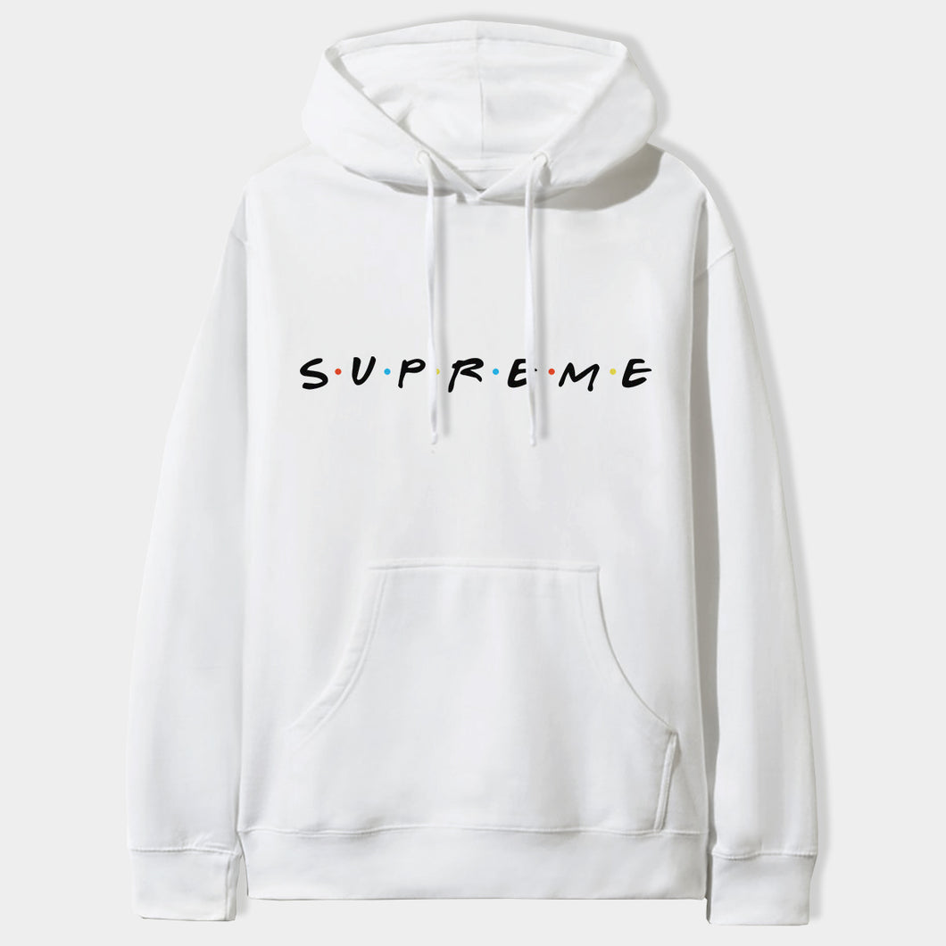 Friends X Supreme Hoodie in White