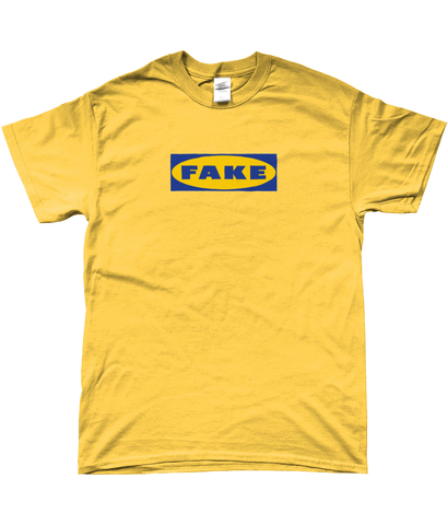 Fake Tee - In Blue / Yellow