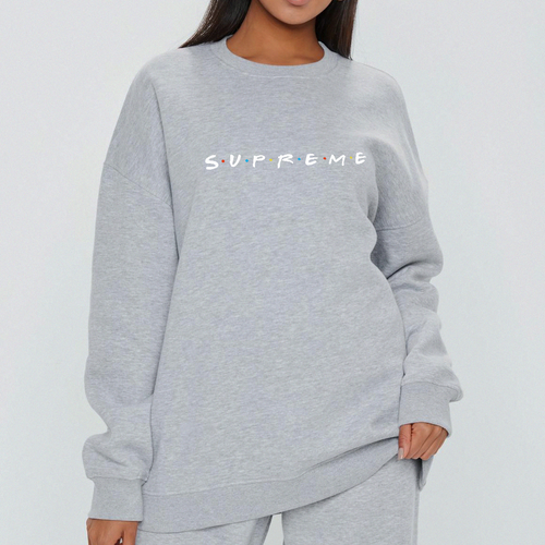 Friends x Supreme Sweat - in Black / Grey