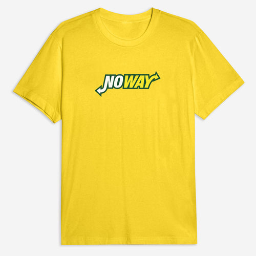 No Way Tee in Yellow / White