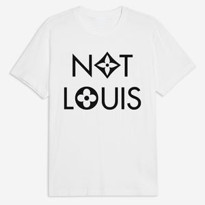 Not Louis Tee in Pink / White