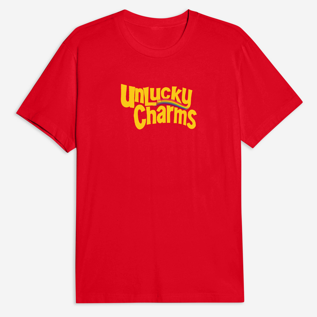 Unlucky Charms Tee in Red