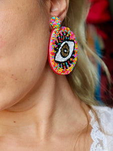 Nova Eye Colorful Earrings