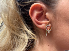 Load image into Gallery viewer, Iced Out Ear Climber Earrings