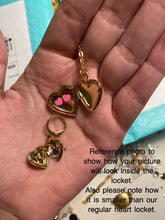 Load image into Gallery viewer, Dainty Heart Locket Necklace