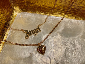 Mini Heart Locket Anklet