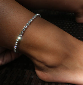 Two Rhinestone Anklets