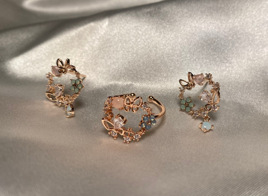 Mariposas Ring and Earrings Set