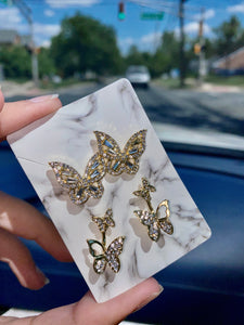 Bella Butterfly Earrings Set
