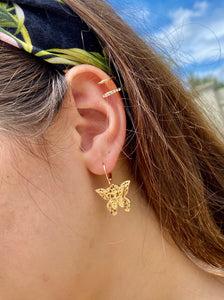 Butterfly Earring With Ear Cuff