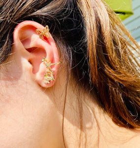 Uniquely You Butterfly Ear Climber Earrings with Ear Cuff