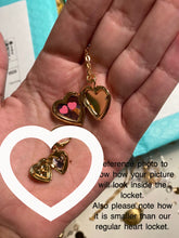 Load image into Gallery viewer, Mini Heart Locket Earrings
