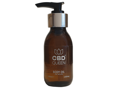 CBD QUEEN INFUSED BODY OIL 1000MG - 100ML