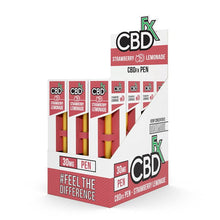 CBDfx CBD vape disposable pen 30mg - strawberry lemonade 12 pack