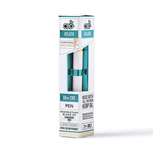 CBDfx CBD Disposable Terpene Vape Pen Gelato - 50mg