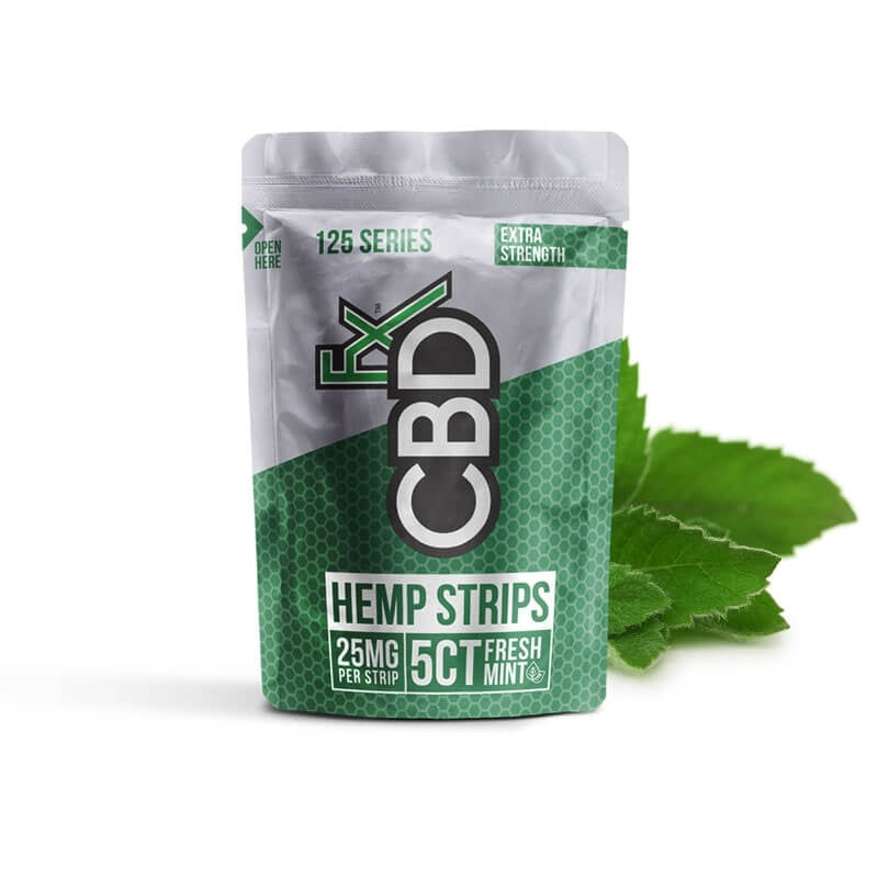 CBDfx Sublingual mint hemp strips - 25mg