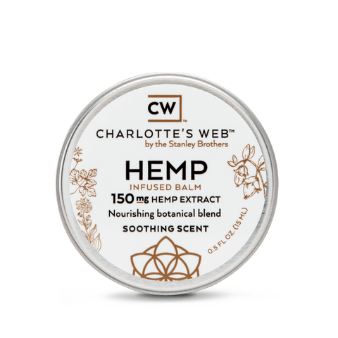 Charlottes Web Hemp CBD Soothing Scent Infused Balm 150mg - 0.5oz