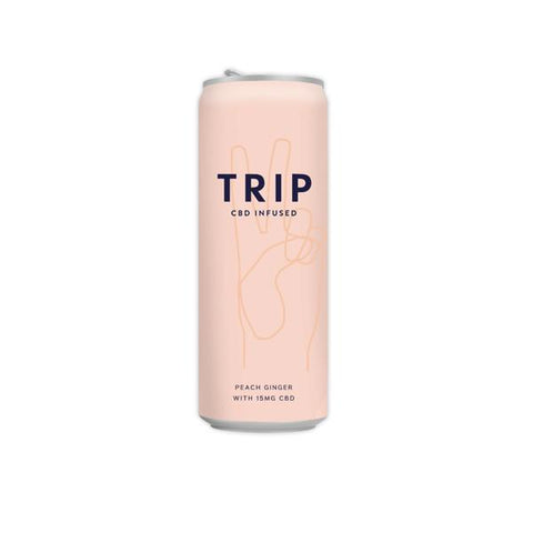 12 x TRIP 15mg CBD Infused Peach & Ginger Drink 250ml