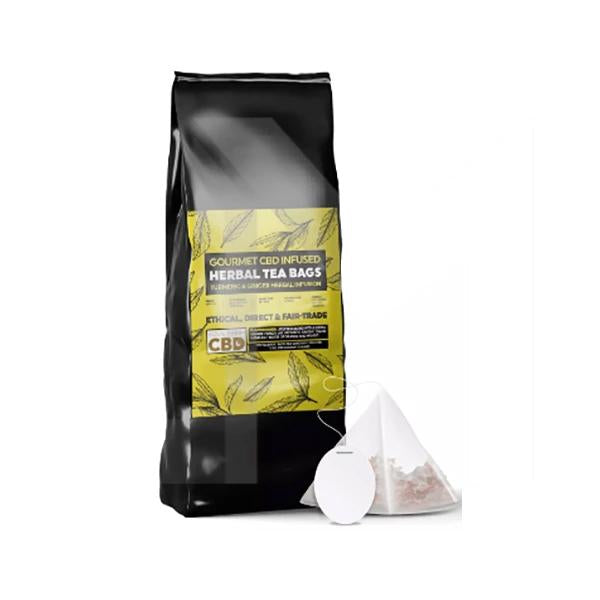 Equilibrium CBD Gourmet Herbal Tea Bags - Ginger & Turmeric