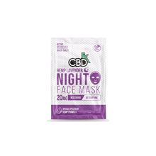 CBDfx 20mg CBD Face Mask - Lavender Night