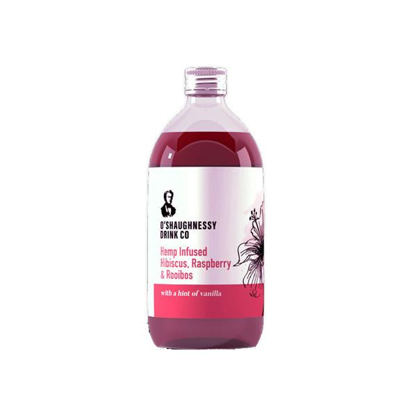 O'Shaughnessy Hemp Infused Hibiscus, Raspberry & Rooibos 500ml CBD Cordial