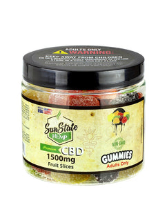 Sun State Hemp CBD Gummy Fruit Slices - 1500mg