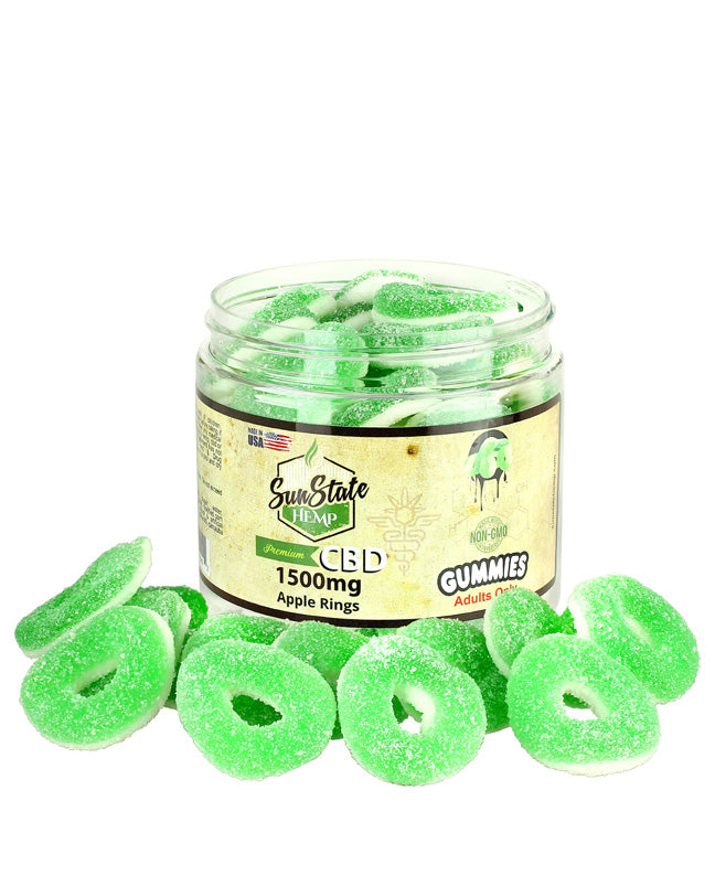 Sun State Hemp CBD Apple Rings - 1500mg