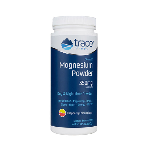 Trace Minerals - Stress X Magnesium Powder - Raspberry Lemon