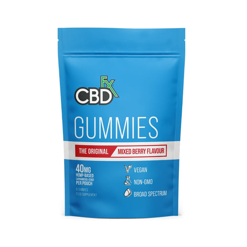 CBDfx Vegan Gummies - 40mg CBD - 8 Gummy Bear Pouch