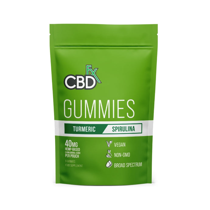 CBDfx Gummies With Tumeric & Spirulina - 40mg CBD - 8 Bears