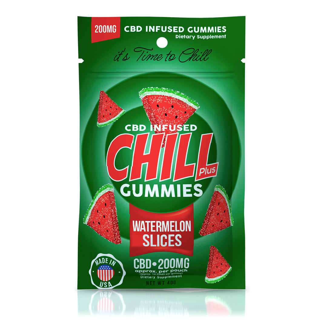 Chill Plus Gummies - CBD Watermelon Slices - 200mg