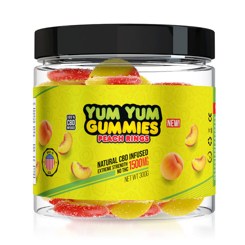 Yum Yum Gummies CBD Peach Rings - 1500mg